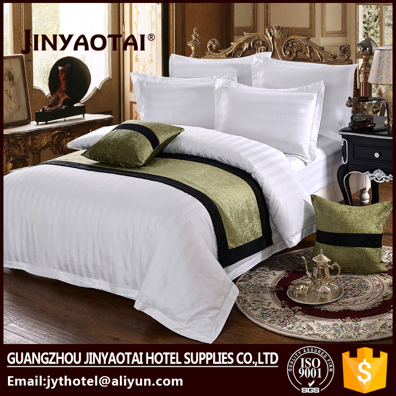 5 star 100% cotton T300 jacquard hotel bedsheet bedding sets