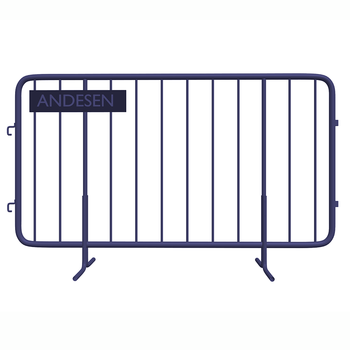 Powder coated traffic safety barrier