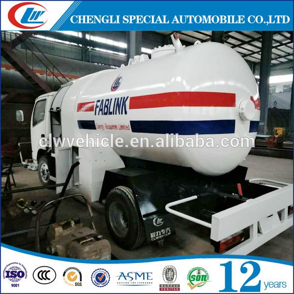 Cheap Price LPG Bobtail Truck 5CBM LPG Filling Truck For Nigeria