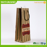 New best selling give away brown paper bag with window