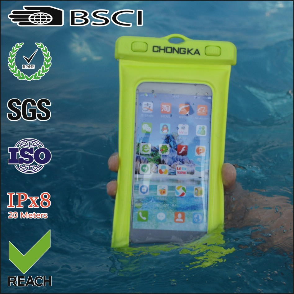 Best Quality customize logo printed pvc waterproof phone case smartphone bag for iphone 7 plus