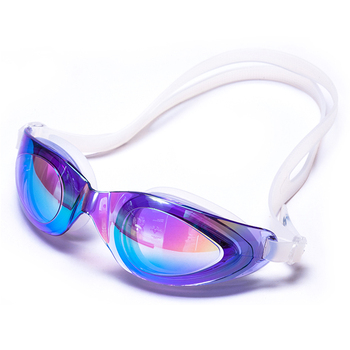 Mirror color coated silicone swimming Goggles