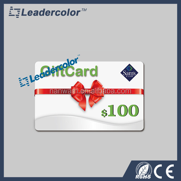 Cheap full color printing plastic gift pvc card embossed