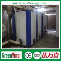 Vertical biomass pellet hot water boiler, wood fired water heater for industry