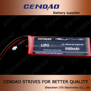 cendao 7.4V 5400mah rc car battery connectors li-polymer 1000mah 3.7v rc battery phantom 2 vision 11.1v 5200mah 45c rc lipo ba