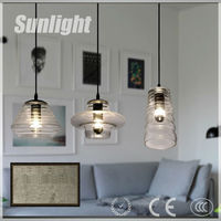Hot Sell Decorative Modern Clear Transparent Glass Bottle industrial Chandelier vintage Hanging Pendant Light for home