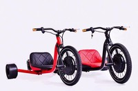 Two front wheel electric cargo trike