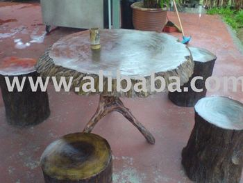 Meranti Putih Table & Chair (Set