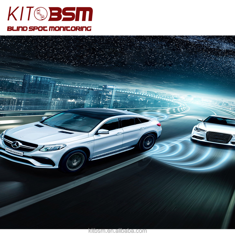 KIT BSM real-time 24GHz radar monitoring blind spot detection assist system for E300L
