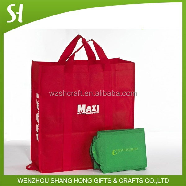Non-woven,80g nonwoven fabric Material and Handled Style eco foldable non woven shopping bag