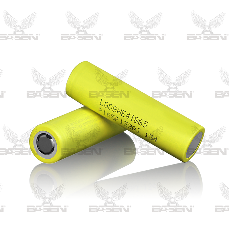Original ICR18650 battery yellow color 18650 HE4 flat top battery li-lon battery