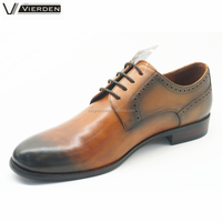Classy light brown cow leather formal dresses shoes for men OEM services