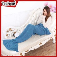 2016 Hot sale Adult Acrylic Mermaid Tail Blankets Factory