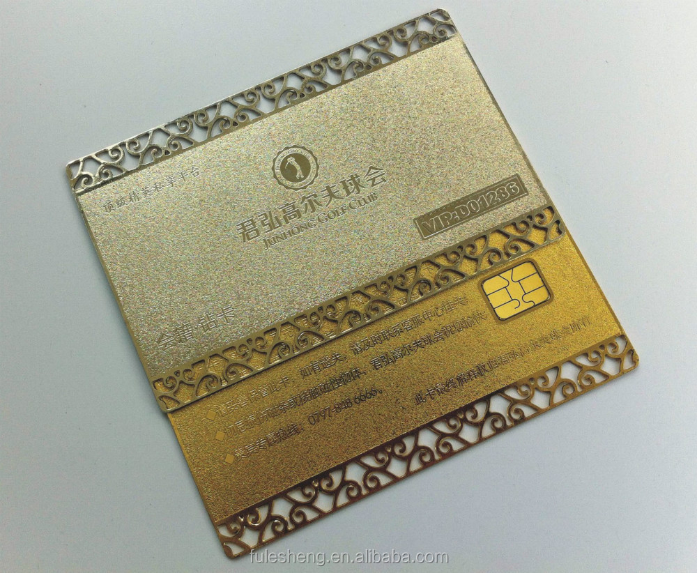 Metal card with contact IC card/high quality