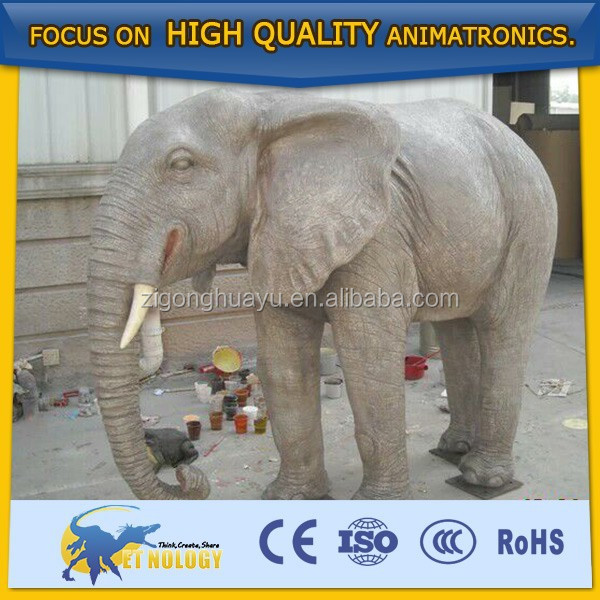 Cetnology Theme Park Attractive Lifelike Huge Fiberglass Elephant Model