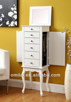 wooden storage, jewelry armoire, drawers