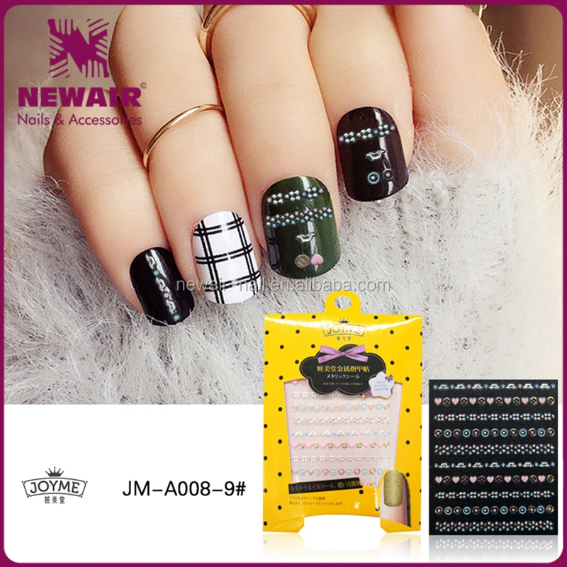 New Air Fashion Customized Body Metal StyleNail Art Stickers