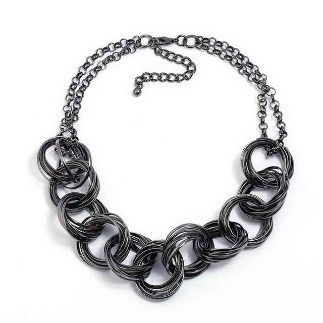 Женское колье lzhlq в стиле панк ожерелье этническом массивное