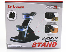 For PS3 Controller LED Light Quick Dual USB Charging Dock Stand Charger for playstation3 joysticker