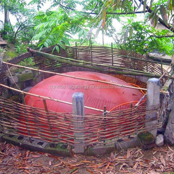 cow farm accessories red-mud membrane small biogas power plant for small size biogas digester