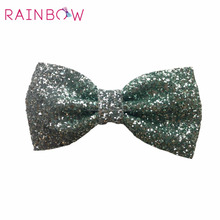 Glitter ombre large bow new kids hair bows