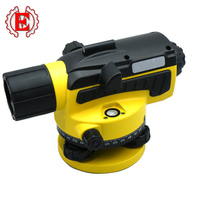 Digital optical level instrument magnification with tripod.