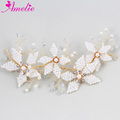 Wedding Bridal Hair Ornaments Headbands Tubular Beads Bridal Headwear Celebration Hair Side Clip Photography Prop Accessories