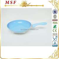 MSF-6362 -26 * 5cm fry pan sinny blue ceramic non stick coating interior forged aluminum cookware