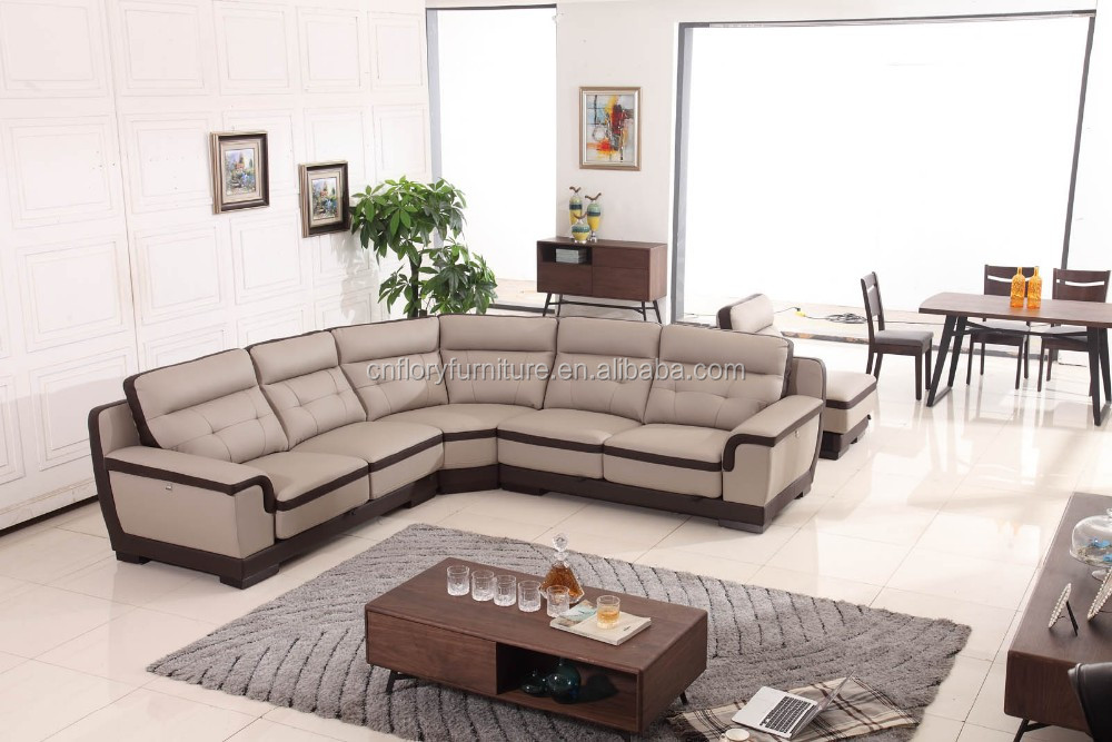 2016 New leather sofa design living room furniture F1380