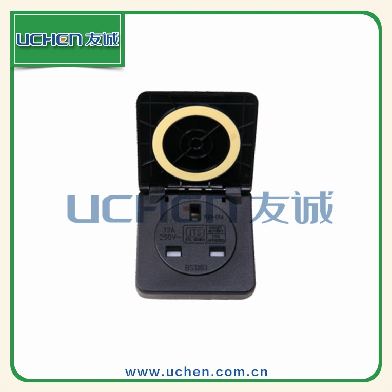 YGB-014 British waterproof IP44 250amp uchen industrial plugs sockets