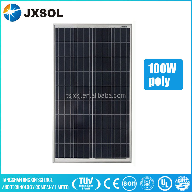 photovolatic solar panel kit 100w poly solar panel