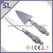 High Quality Silvering Plate Wedding party cake serving set