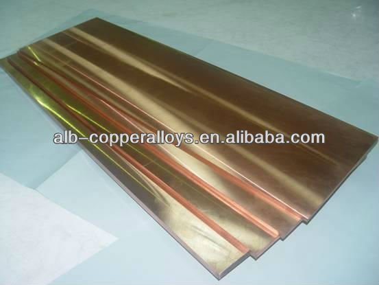 CuNi2CrSi DIN2.0855 Copper Chromium Nikel Silicon flat bar C18000
