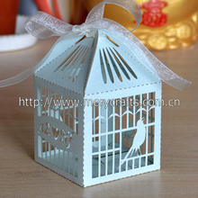 wedding favor! laser cut paper crafts favor box decorative bird cages for weddings