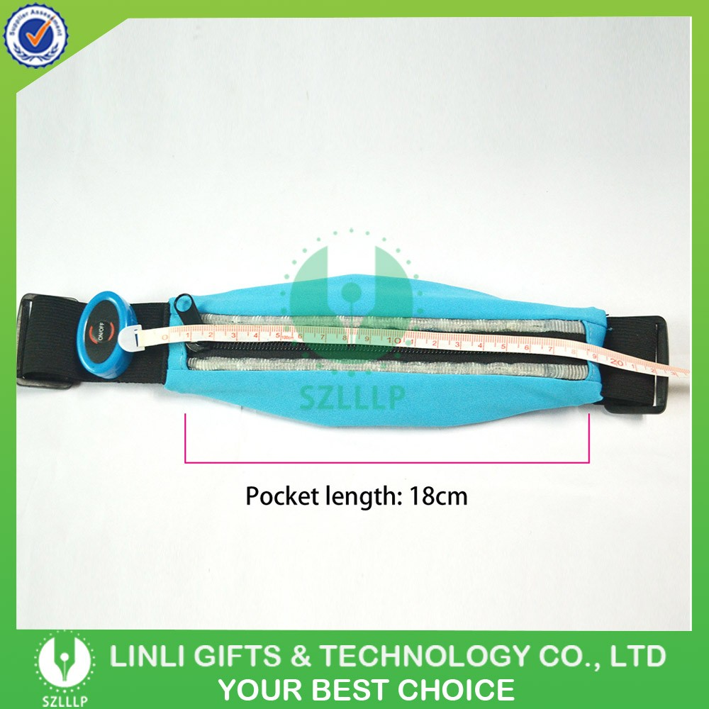 Outdoor LED Safety Jogging Running Bag, Led Belt Bag