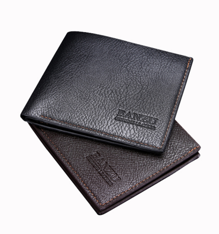 Pu Leather Wholesale Cheap Men Short Rfid Wallets OEM Factory