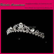 Trade Assurance Factory Wholesale most sold girls crystal hair accessories beauty pageant crowns for sale