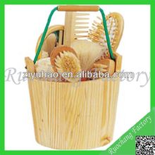 Wooden bucket gift set/baby bath sets/Christmas promotional sets