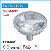 LED Light Housing AR70 Dimmable 24 Degree AR70 BA15D LED Lamp Interior Decoration