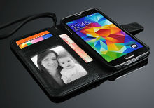 universal smart phone wallet style leather case for Samsung S5