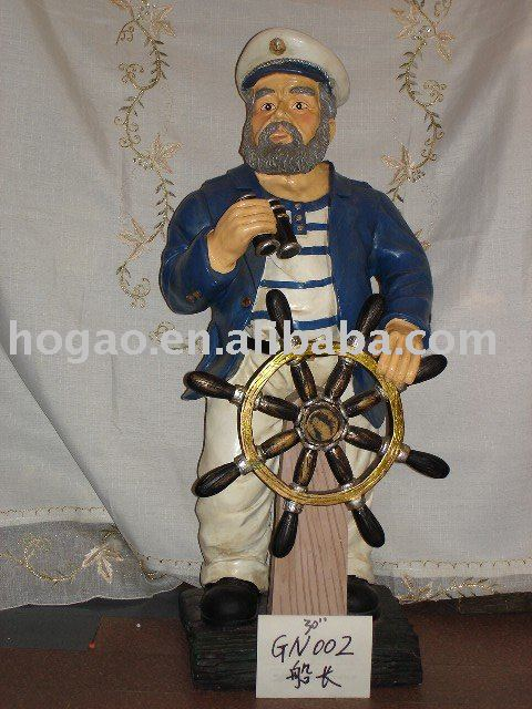 resin nautical figurine polyresin navy figurine