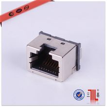double row 1 port female shield side entry 10 pin rj45 connector