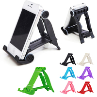 Fashion Popular Universal Mobile Phone Stand Folding Travel Desk Foldable Rest Stand For iPhone HTC LG Samsung etc Smart Phone