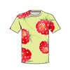 byval clothing Strawberries love wholesale custom PDF design file t shirts all over sublimation printing t shirts