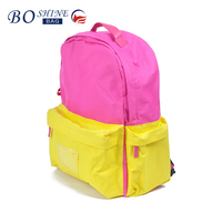 2016 factory direct big Pocket color Backpack for teenager manufacturer china
