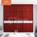 New bedroom furniture closet laminate designed sliding door wood roller wardrobe cabinet