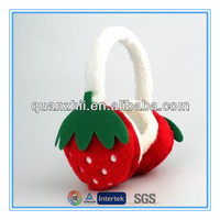 Cute stuffed strawberry plush toy plush earmuffs