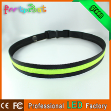 cheap velcro led reflective men sport waist belts for running