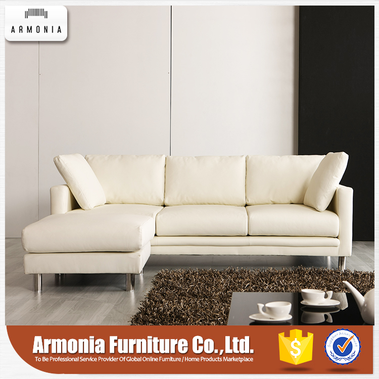 High end italy leather recliner sofa with white cushion