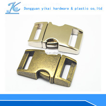 "custom logo side release buckles,15mm curved quick-release buckle,5/8"" inch bag insert buckle"
